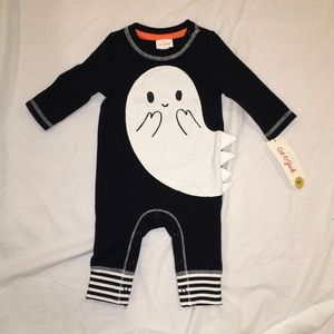 Baby First Halloween Jumpsuit Ghost 0-3M NWT